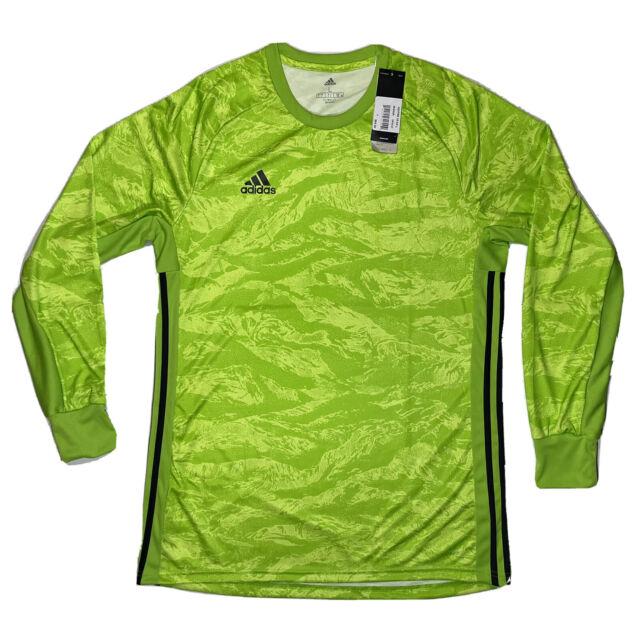 adidas Adipro 19 Goalkeeper Jersey Semi Solar Green Size Large ...