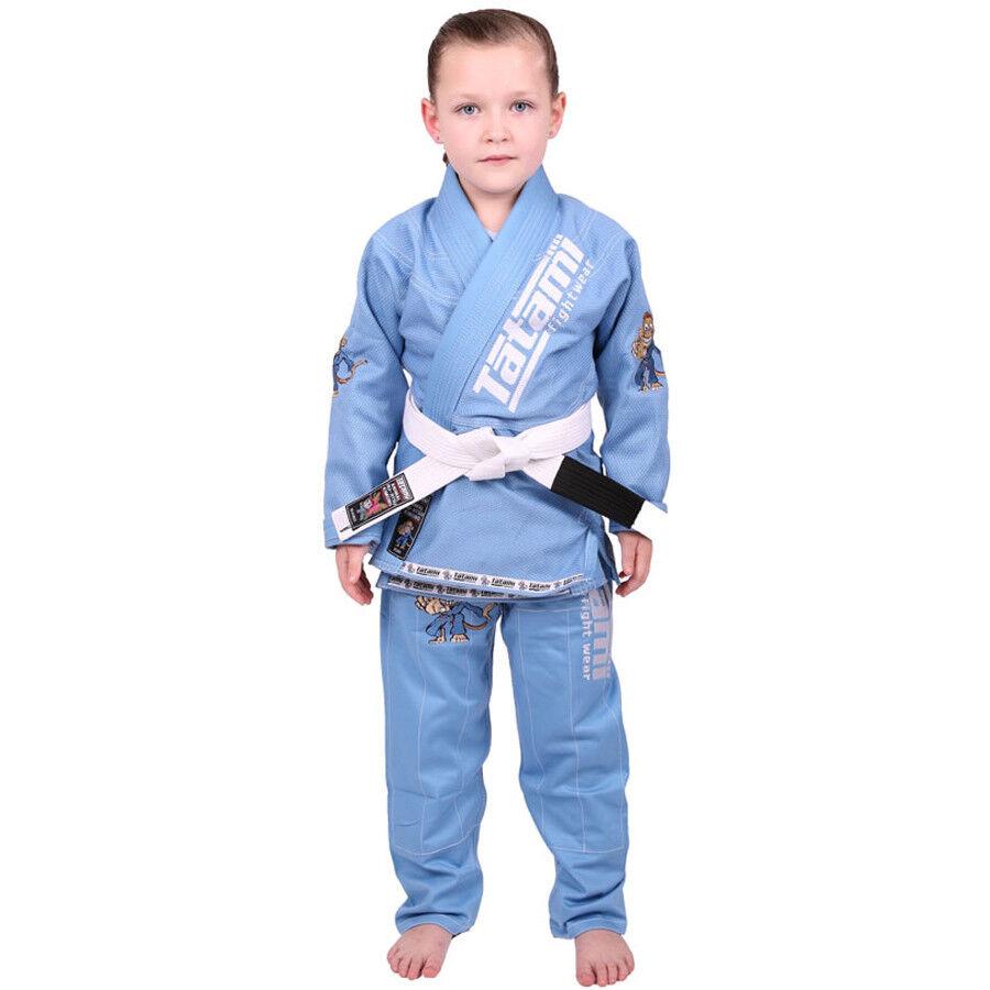 Tatami Fightwear Meerkatsu Kids Animal BJJ Gi - Sky blueee