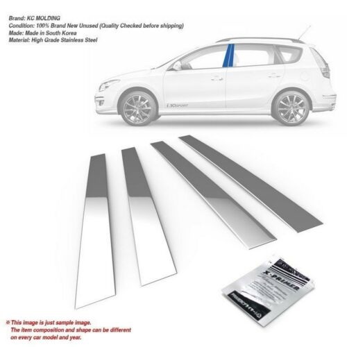 Stainless Steel Chrome Window Pillar Molding 4P For HYUNDAI 2008-2012 i30cw