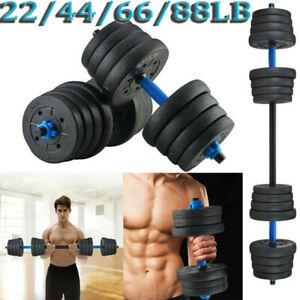 44//66lb Adjustable Dumbbells Set 20//30kg Barbell Dumbbell cap 552 fitness pair