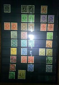 Alliierte-Besetzung-1946-Ziffern-Briefmarken-Sellos-Stamps-Timbres-Konvolut