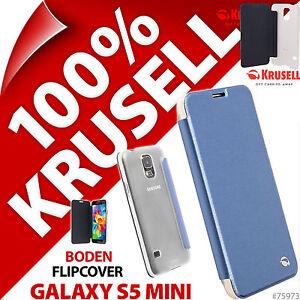 Nuovo-Krusell-Boden-Custodia-Flip-per-Samsung-Galaxy-S5-Mini-Cover-Folio-Blu