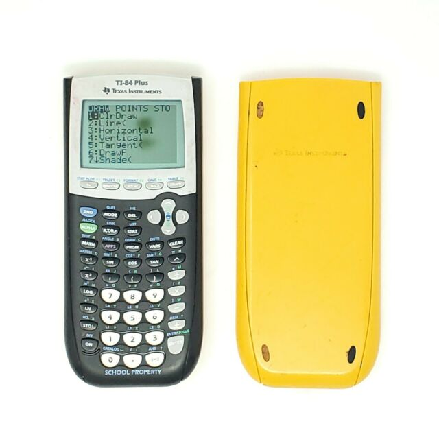 TI-84 Plus Texas Instruments Graphing Calculator W/ Cover Yellow TESTED WORKING