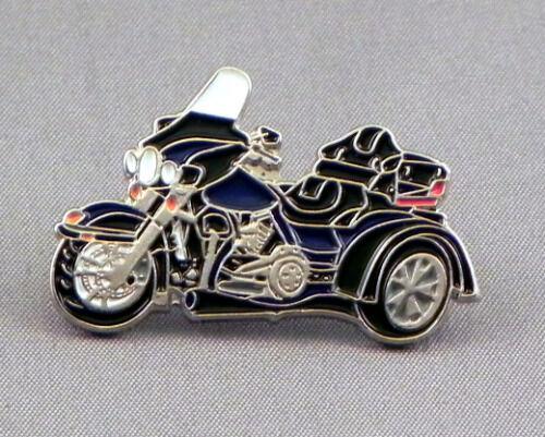 Blue Trike Motorbike Pin Badge