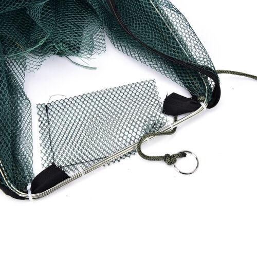 Faltbare Krabben Netz Falle Cast Dip Cage Fischköder Minnow CrawfishShrimp FBB