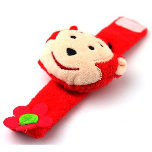 2 Pcs Infant Baby Cute Animal Wrist Foot Sock Rattles Soft Developmental Toys UK