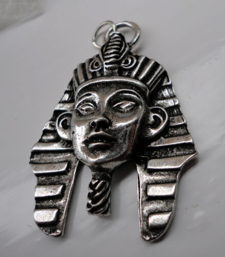 ZP402 King TuT Tutankhamun Pewter Pendant Egyptian Death Mask Valley of Kings