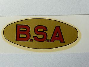 Aufkleber Bsa Schriftzug Wasserabziehbild Abziehbild 00230b 100 X 38 Mm Gold/rot/schwarz Auto & Motorrad: Teile