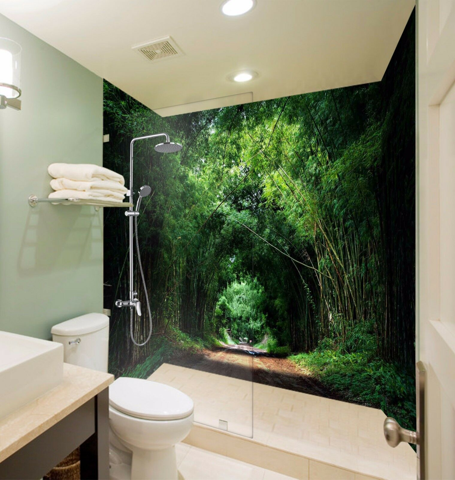 3D  Peaceful  7101  WallPaper Bathroom Print Decal Wall Deco AJ WALLPAPER AU