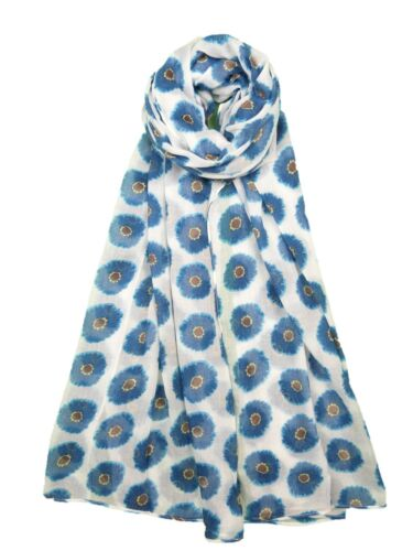 Women Poppy Flower Print Scarf Soft Scarves Shawl Neck Wrap 5 Colours