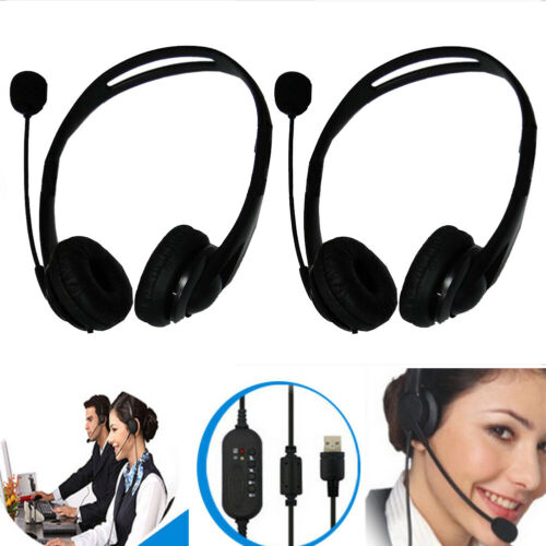 Call Center Customer Service Headset Headphone Handsfree for Computer With MIC