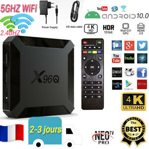 X96Q ANDROID 10 SMART BOX 4K Ultra HD 5g WiFi Digital Box Livraison RAPIDE K18.0