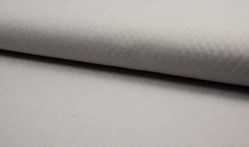 Diamond Jersey Hellgrau 165cm uni Baumwoll Steppsweat Quality Textiles