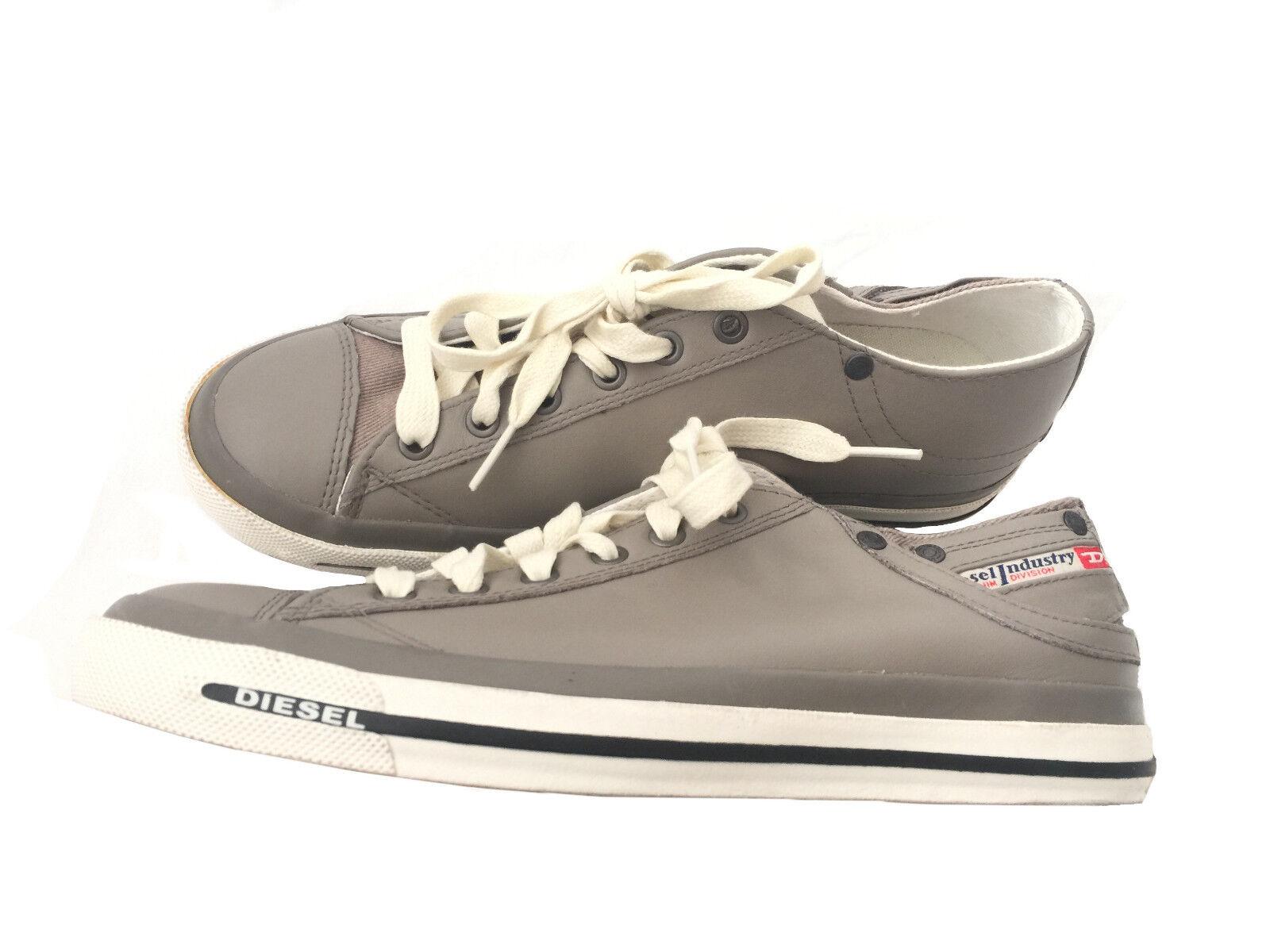 NEU: DIESEL Damen Leder Schuhe Sneaker Freizeitschuh Gr.40  olive  olive  braun c0bc9c