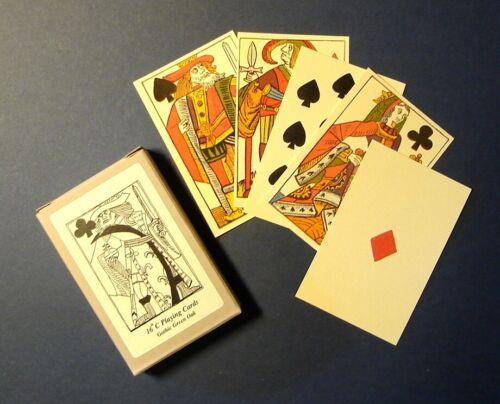 Siglo XVI francés adaptado histórico reproducción jugando a las cartas