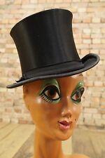 alter Herrn Hut Zylinder vintage Chapeau Claque schwarz antik Hat Tramp-Look