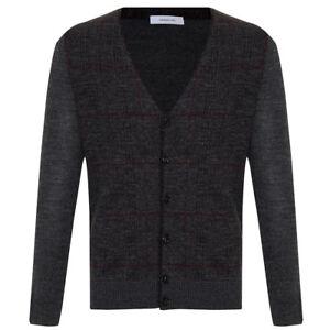 Cardigan uomo 100/% lana merinos HAMAKI-HO mod MI2093H col Grigio Listino 124€