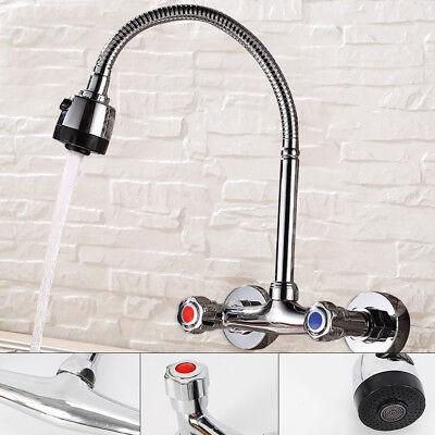 Wandarmatur Spültisch Wandmontage Wasserhahn Zweigriffmischer Küche Bad Armatur