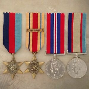 WWII AFRICA STAR 8th ARMY MEDAL SET   ANTIQUE TONE   WORLD WAR TWO   AUSTRALIA
