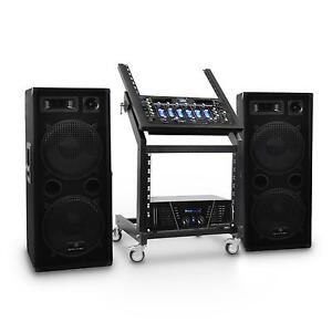 2000 watt dj pa musik audio system anlage lautsprecher. Black Bedroom Furniture Sets. Home Design Ideas