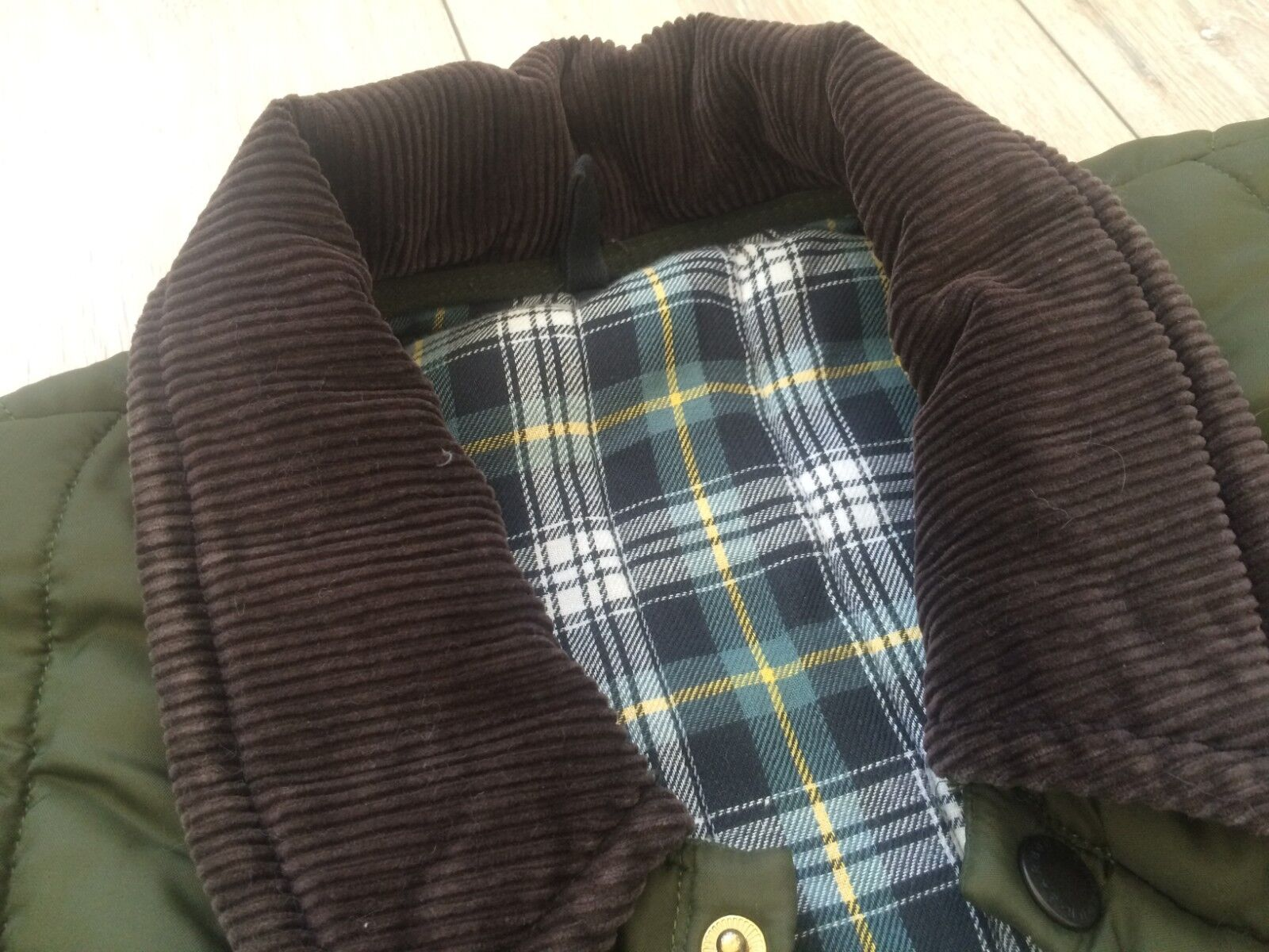 Rare BARBOUR Vintage Men Hunt Quilted Puffer Down… - image 4