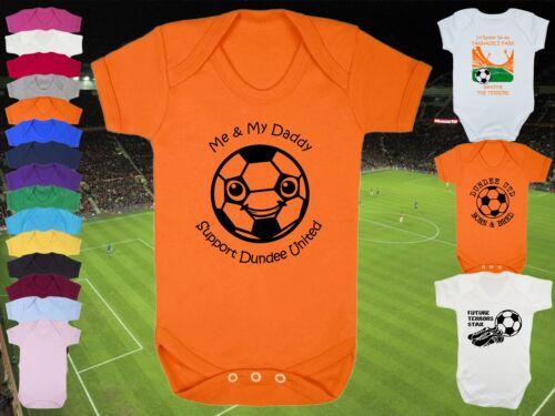 Dundee united football babygrow//vest//body//ange-personnalisé cadeau personnalisé