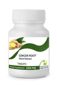 Jengibre-Raiz-Hierba-Extracto-1000Mg-30-Tabletas-Britanico-Calidad