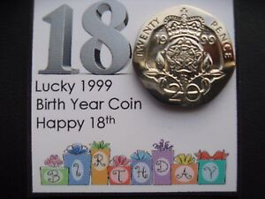 Image Is Loading 18th Birthday Lucky 1999 Birth Year Coin For