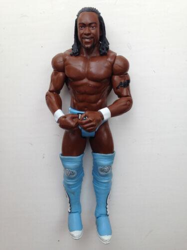 Rare WWE KOFI KINGSTON MATTEL WRESTLING FIGURE Le jour nouveau bleu tenue