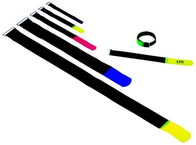 (Grundpreis 0,60€/Stk.) 10 Stk. KlettKabelbinder 16x1.6 cm schwarz Klett Kabelbi