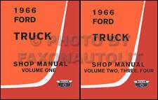 1966 Ford Shop Manual Set F100 F250 F350 Pickup and Truck F500-F1100 B C N P