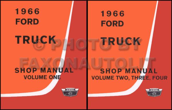 1966 Ford Manuale Di Negozio Set F100 F250 F350 Pickup E Camion F500-f1100 B C N Reputazione In Primo Luogo