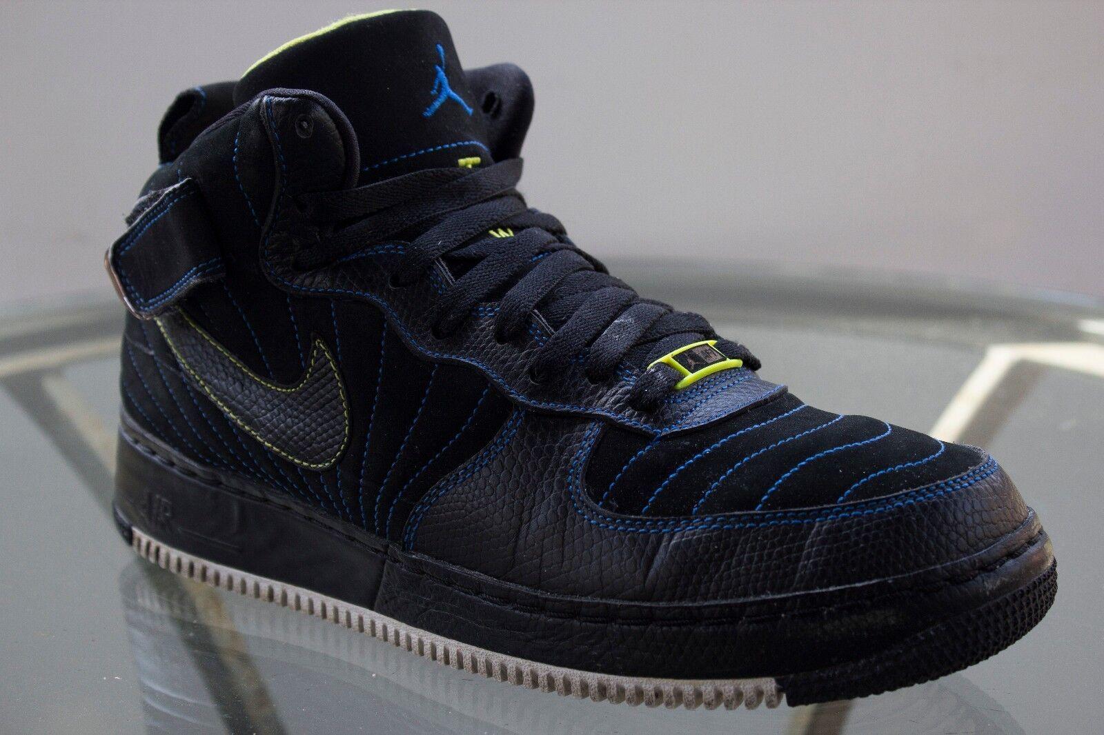 Nike Air Jordan ajf-1 del negro de los hombres del ajf-1 zafiro azul retro XII 2018 SZ 10 214fa4