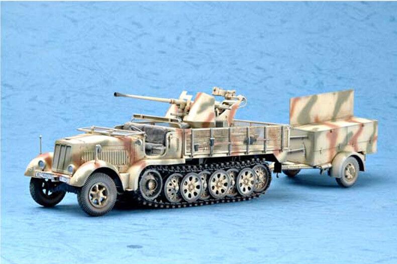 GERMAN 3.7CM FLAK 37 AUF SELBSTFAHRLAFETTE 1 35 tank Trumpeter model kit 01525