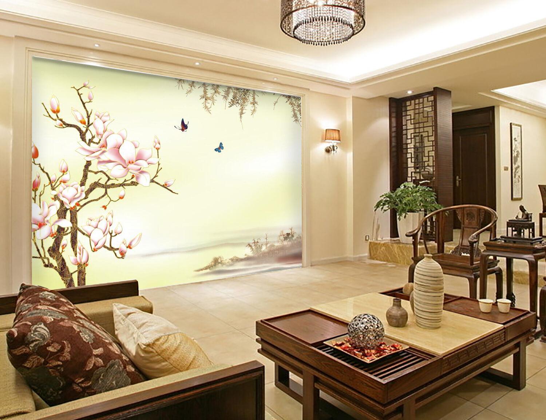 3D Fleur Pêche 382 Photo Papier Peint en Autocollant Murale Plafond Chambre Art
