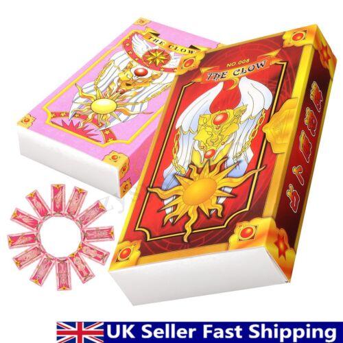 56Pcs Anime Card Captor Sakura Clow Card Set Cosplay Party Supplies Collection