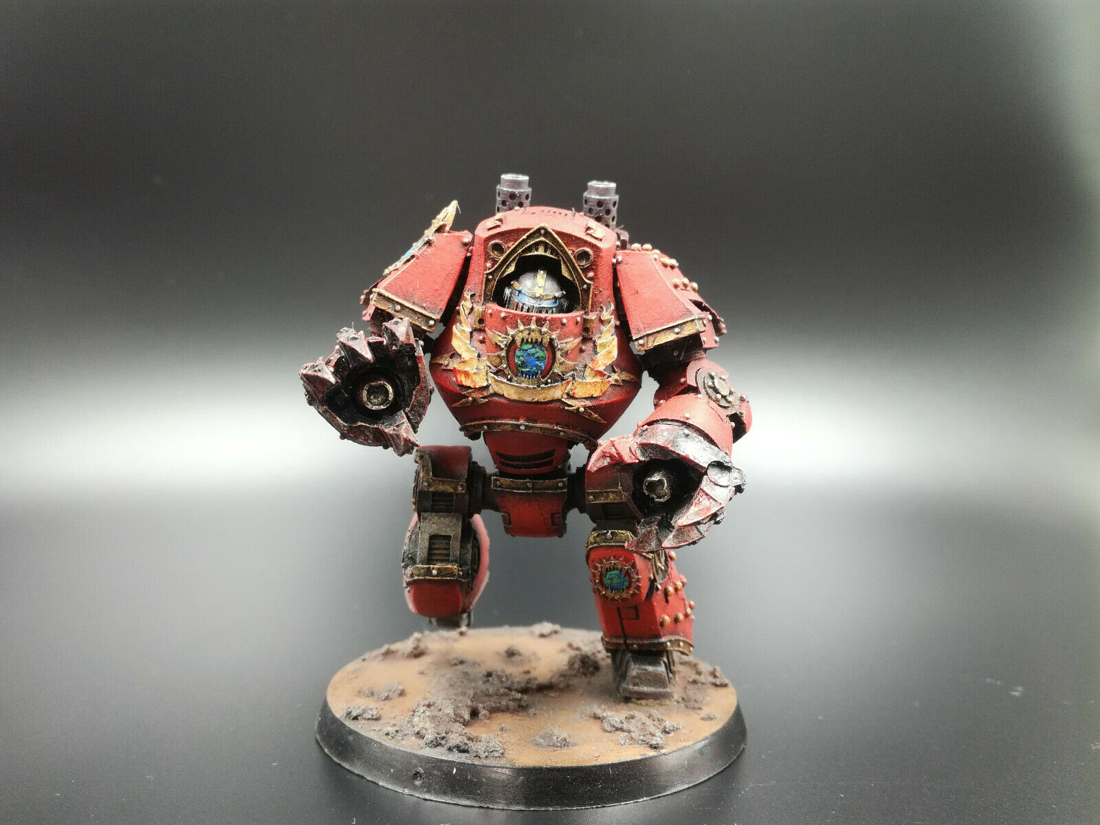 40k 30k Forgeworld Khorne World Eaters Contemptor Dreadnought ,near ,near pro painted  online al mejor precio