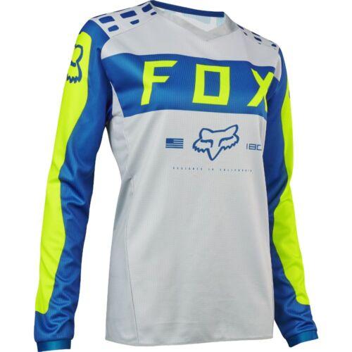 Fox Racing Womens 180 Jersey MX Off Road ATV Motocross Grey//Blue 17273-036