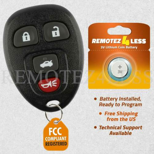 For 15912859 Replacement Keyless Remote Key Fob 2006-2013 Chevrolet Impala