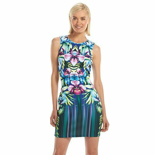NEW Apt. 9 Women's Print Bodycon Scuba Dress - New with Tag + Free Shipping
