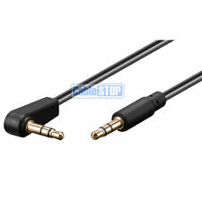 50cm Slim Right Angle 3.5mm to Straight Stereo Jack Audio Headphone Aux Cable