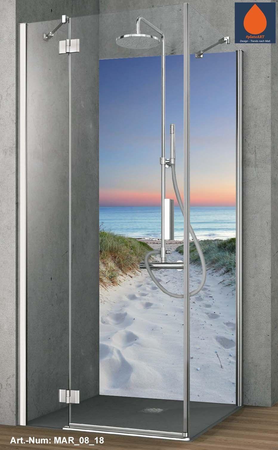 Coin duschrückwand Mur Arrière douche alu, Carreaux de rechange, Dunes Dunes rechange, dans le crépuscule 3dcafd