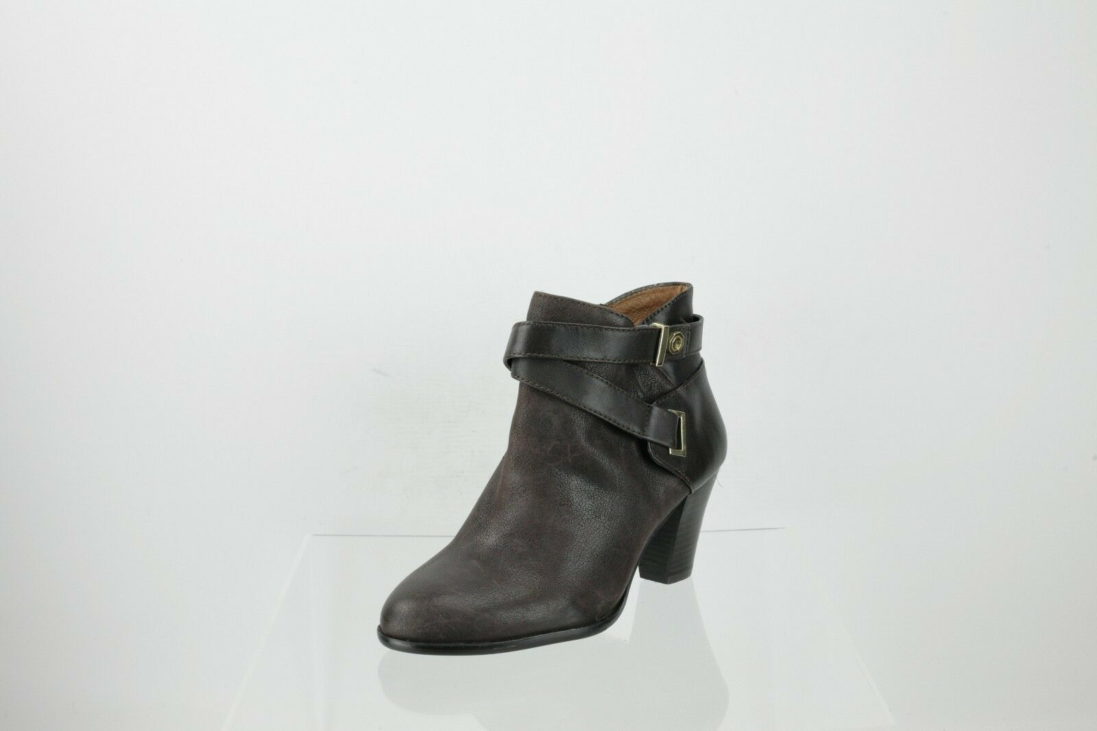 Louise Et Cie Dark Brown Leather Ankle Boots Women's shoes Size 6.5 M NEW