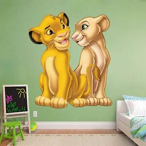 Image Is Loading Lion King Wall Sticker Simba Nala Decal Disney  Part 26