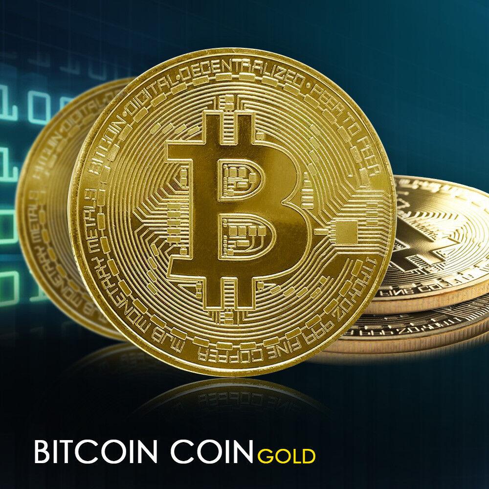 8X Bitcoin Gold Plated Physical Commemorative Bitcoin Protective Acrylic Case US