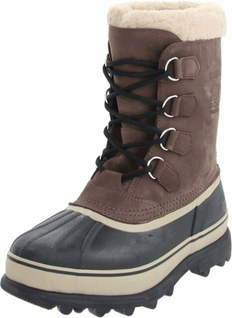 SOREL Men s Bruno Brown Caribou Winter Snow Boots Size 9 US 42 EUR New in  Box 408eac3e7
