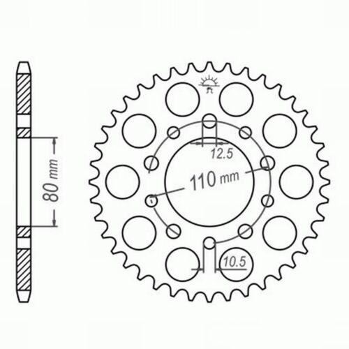 Honda CB 900 F//F2 Bol dOr Kettenkit XAM EXTRA verstärkt GOLD Nietschloss SC09