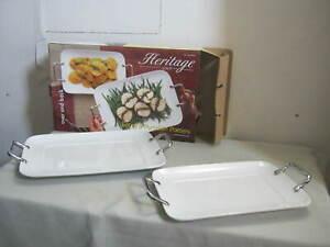 Pair-Vintage-Over-and-Back-Large-Heritage-Porcelain-Platters-16-034-amp-14-034-Unused