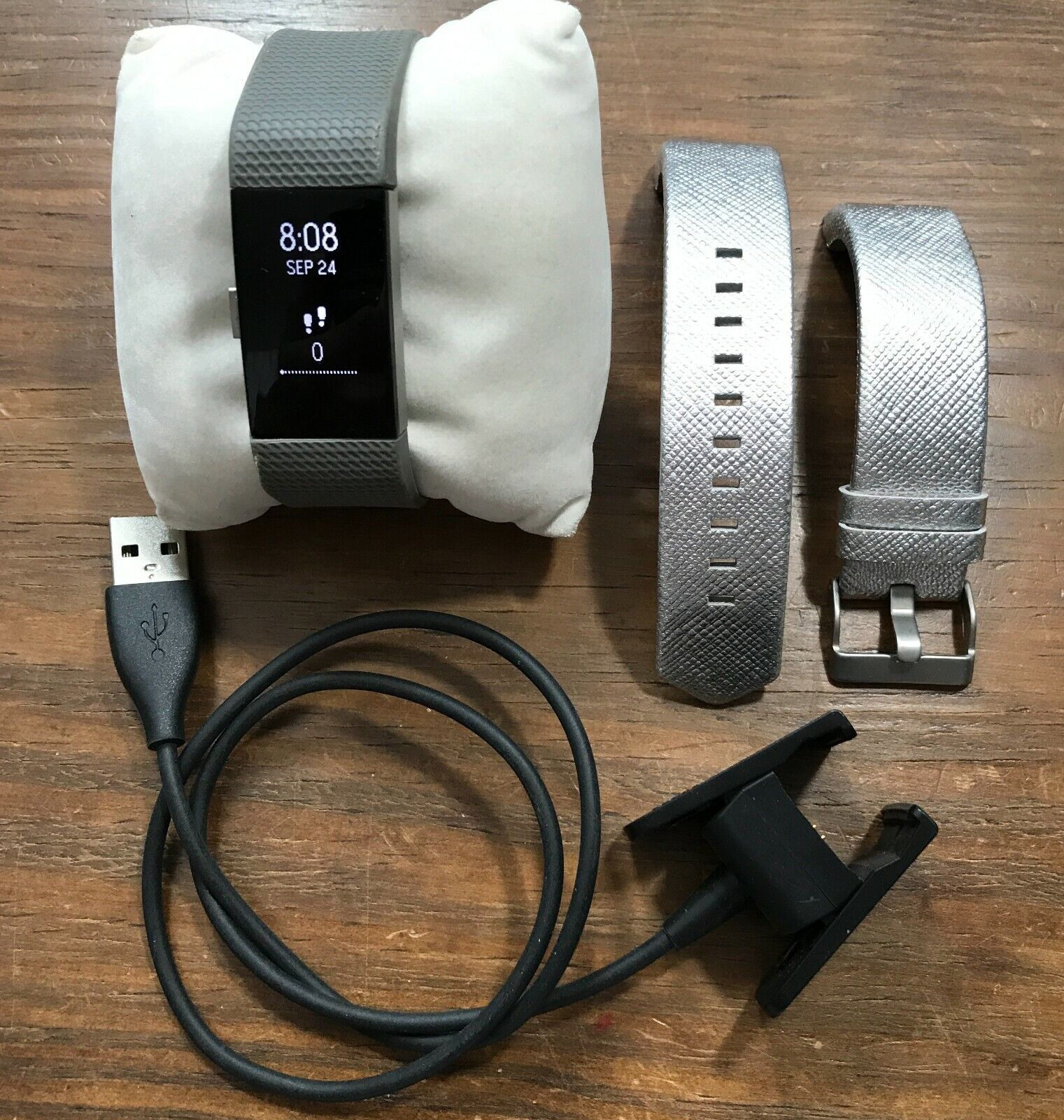 Fitbit Charge 2 Activity Fitness Heart Rate Tracker, Extra Band, Charger