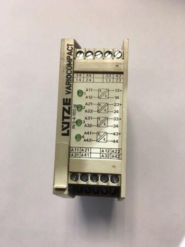 Relais VARIO COMPACT Lutze 24V AC//DC IN 3-4-100//5 Led verteRelay